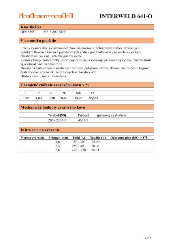 IW 641 O Drôt na oteruvzdorné a podkladové vrstvy