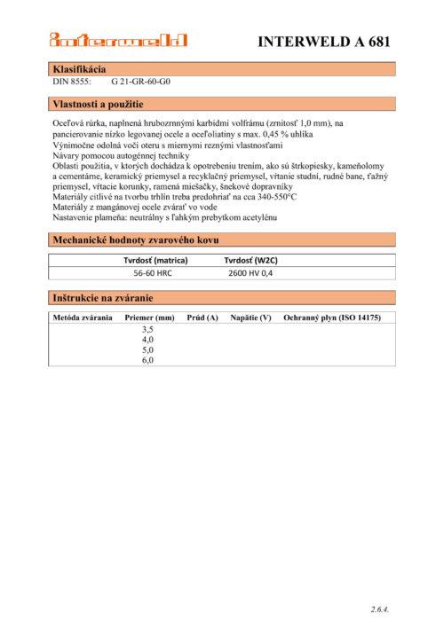 IW A 681 Hrubozrnné karbidy volfrámu