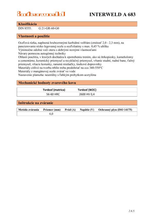 IW A 683 Hrubozrnné karbidy volfrámu